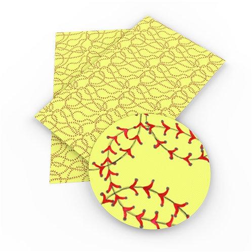 Crazy Softball Stitches Embroidery Vinyl