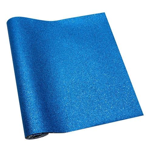 Blue Glitter Printed Embroidery Vinyl