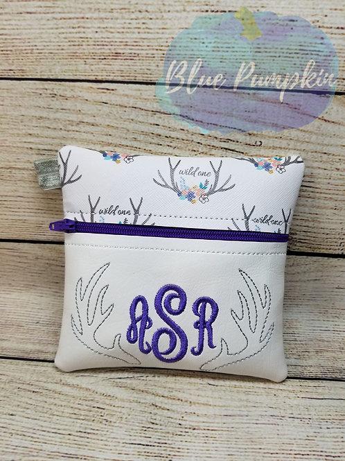 Antler ITH Zipper Bag Design