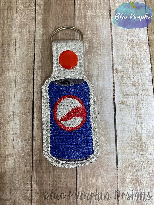 Blue Soda Can Key Fob