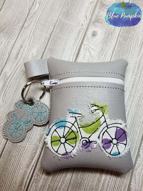 Bicycle Coin  ITH Zipper Bag Design