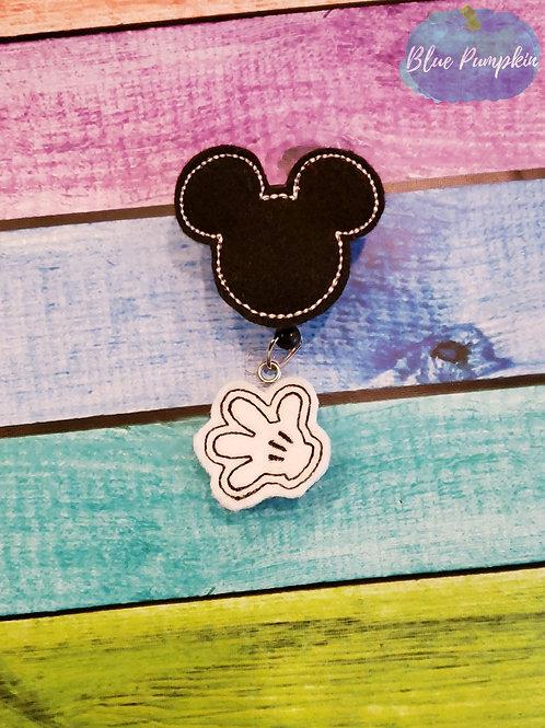 Boy Mouse Badge Reel Feltie Design
