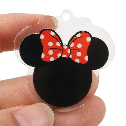 Bow Mouse Head Acrylic Pull