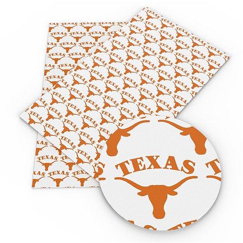 White Texas Print Embroidery Vinyl