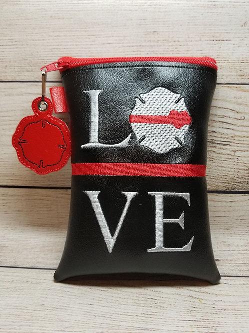 Fire Fighter LOVE ITH Zipper Bag Design