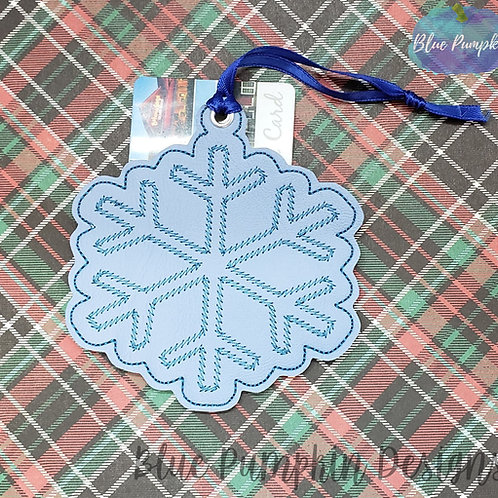 Snow Flake Ornament and Gift Card Holder