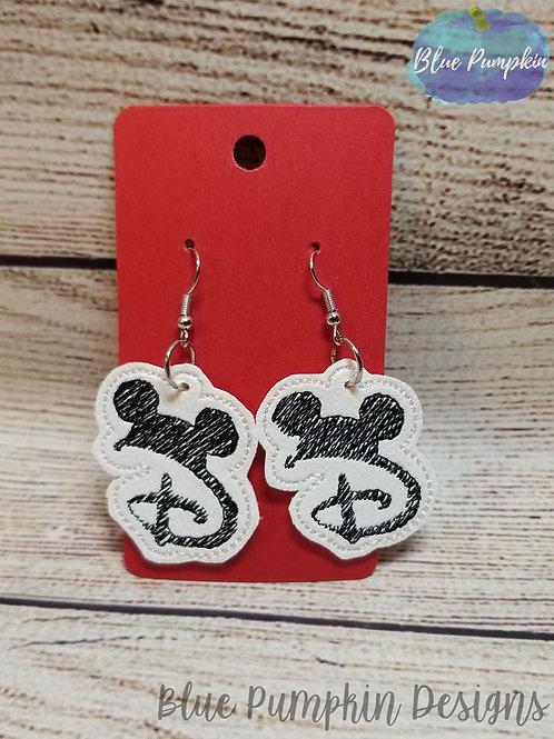 Mouse D Earrings