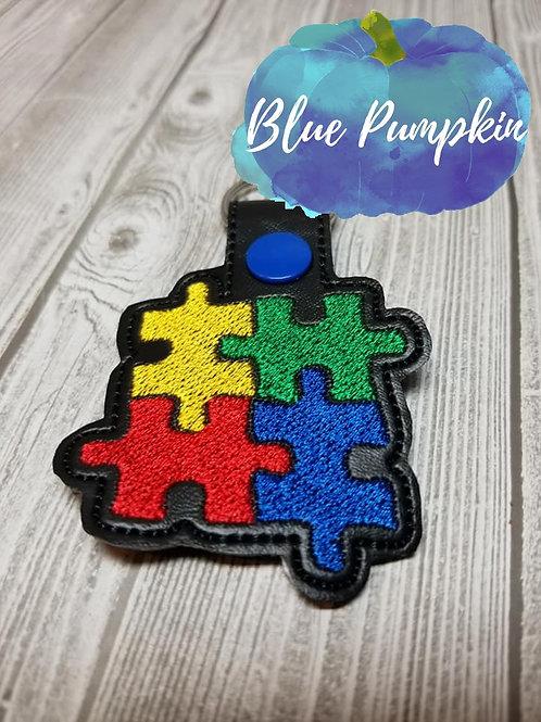 Autism Puzzle Piece Key Fob