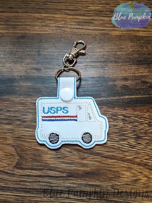 Postal Delivery Truck Key Fob