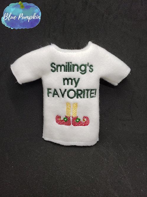 Smiling's My Fav Elf Shirt