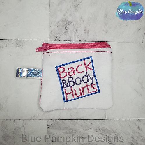 Back Body Set Zipper Bag Design