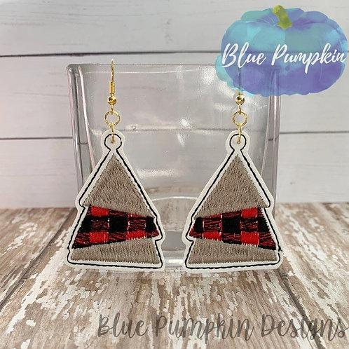 Triple Layer Tree Earrings