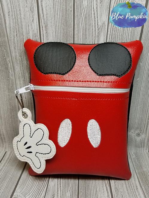 Boy Mouse 7x5 ITH Zipper Bag Design