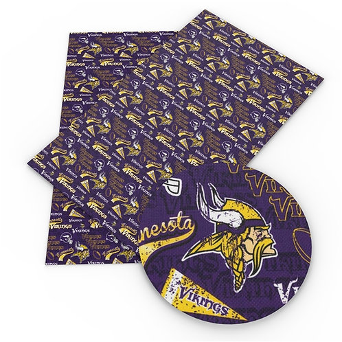 Vikings Fan Print Embroidery Vinyl