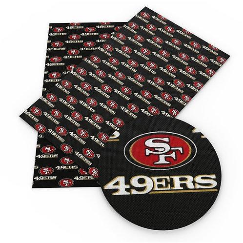 49ers Print Embroidery Vinyl