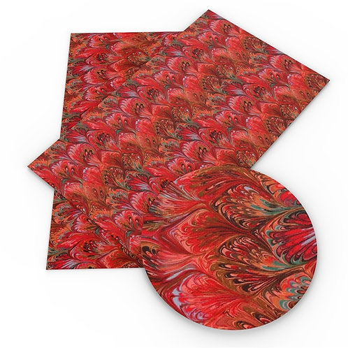 Red Teardrops Embroidery Vinyl