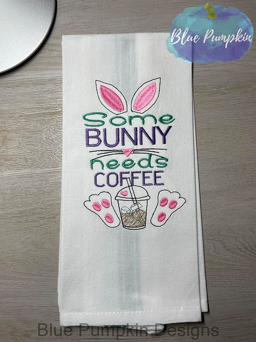 Bunny Needs Coffee 3 Sizes Single Design
