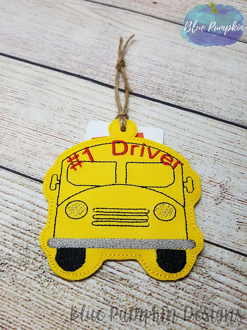 #1 Bus Driver Ornament and Gift Card Holder