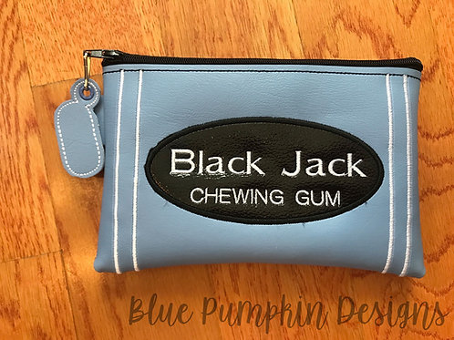 Black Jack Gum ITH Zipper Bag Design
