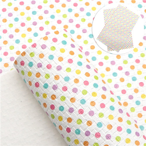 Weave w Dots Embroidery Vinyl
