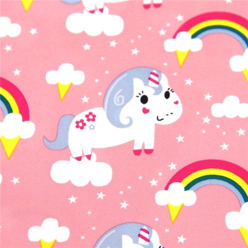 Waterproof Unicorns and Rainbows Printed Fabric