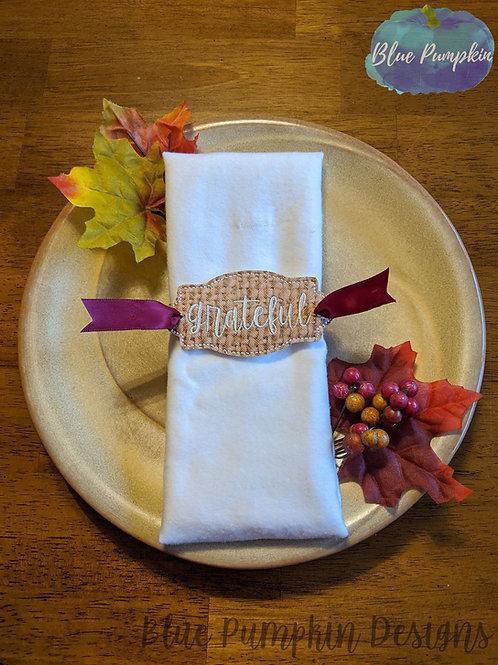 Grateful Napkin Ring Holder
