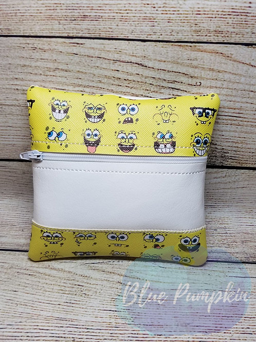 Stripe Bottom 5x5 ITH Zipper Bag Design