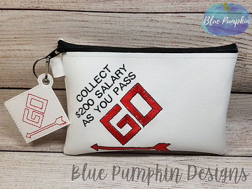 Pass GO 5x7 ITH Zipper Bag Design