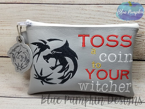 Toss a Coin to Your Witcher ITH Zipper Bag Design