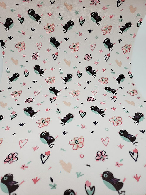 Birds and Hearts Embroidery Vinyl