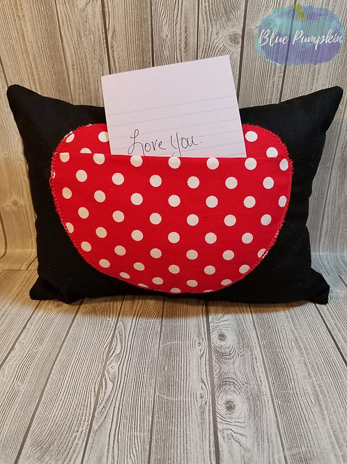 Love Note Pillow 6x8