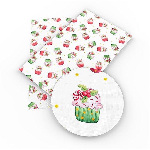 Christmas Cupcakes Embroidery Vinyl