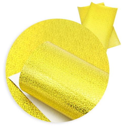 Bright Yellow with Irrid Sparkles Embroidery Vinyl