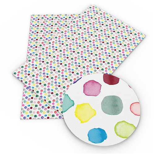 Watercolor Dots Printed Embroidery Vinyl