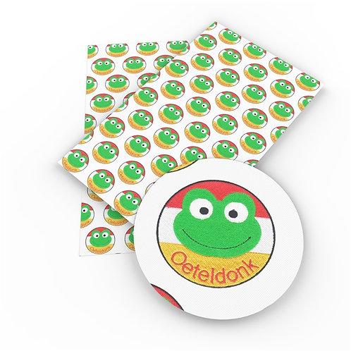 Oeteldonk Frog Embroidery Vinyl