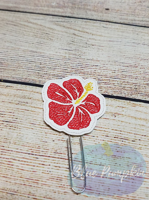 Hibiscus Paper Clip Toppers
