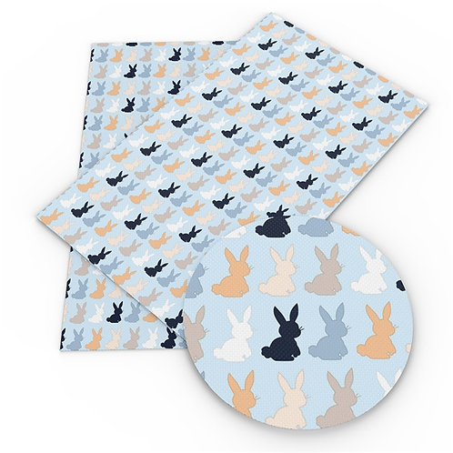 Bunny Blue Repeating Embroidery Vinyl