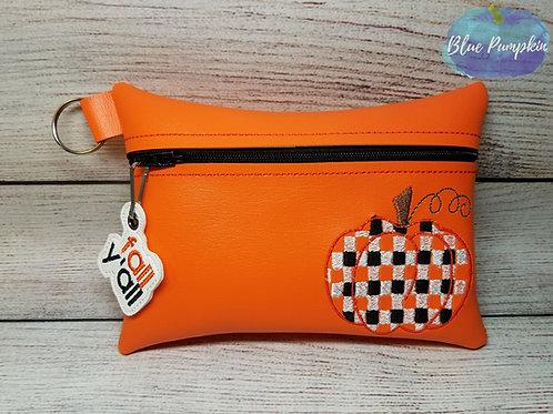 Pumpkin Plaid ITH Bag Design