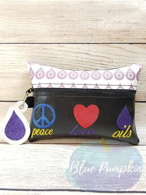 Peace Love Oils ITH Zipper Bag Design