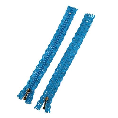 12in Med Blue Lace Zipper