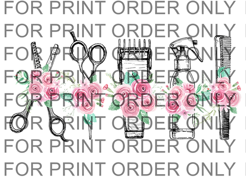 Roses Hair Styling Tools SUBLIMATION PRINT