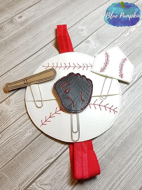 Baseball Set of Clip & Planner Band