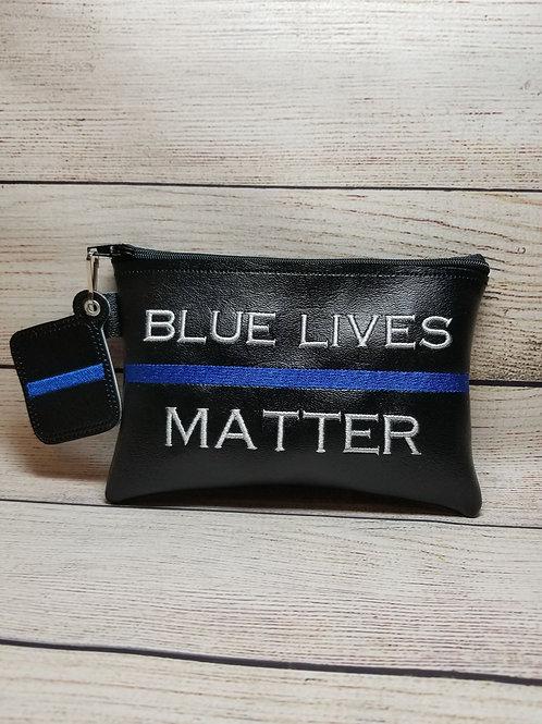 Blue Lives Matter ITH Zipper Bag Design