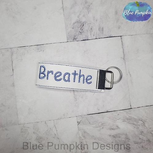 Breathe Vinyl Wristlet Key Fob 5x7