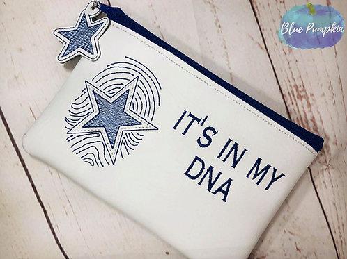 Cowboy DNA Bag ITH Zipper Bag Design