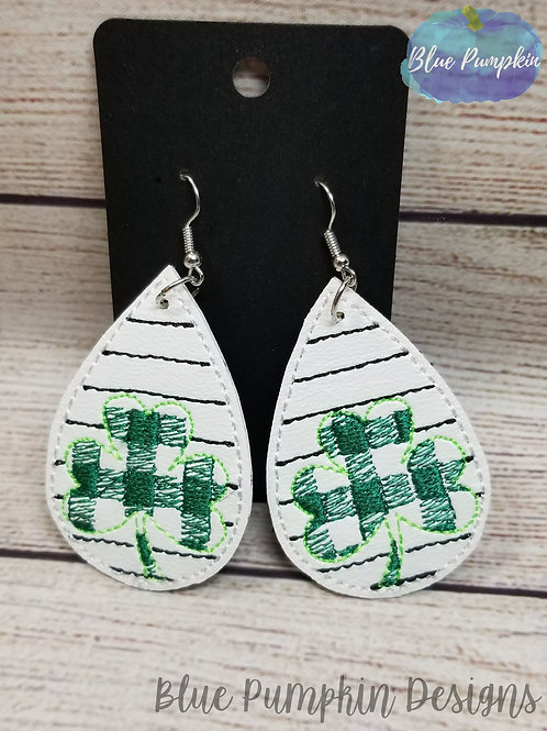 Striped Drops with Shamrock Plaid Earrings