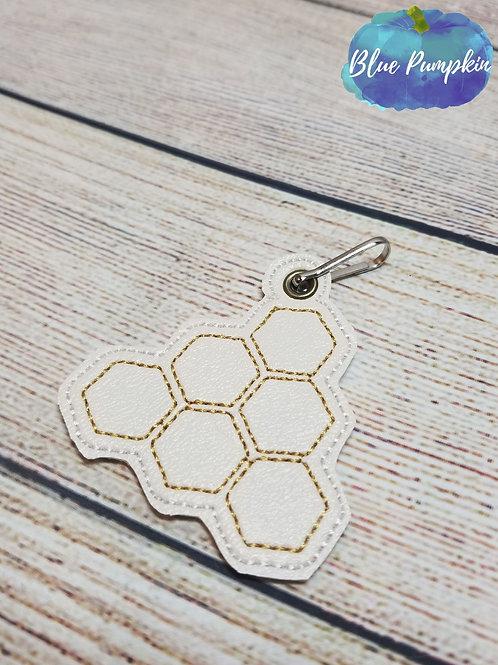 Honey Comb ITH Zipper Pull