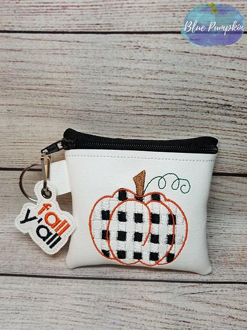 4x4 Pumpkin BPlaid ITH Bag Design