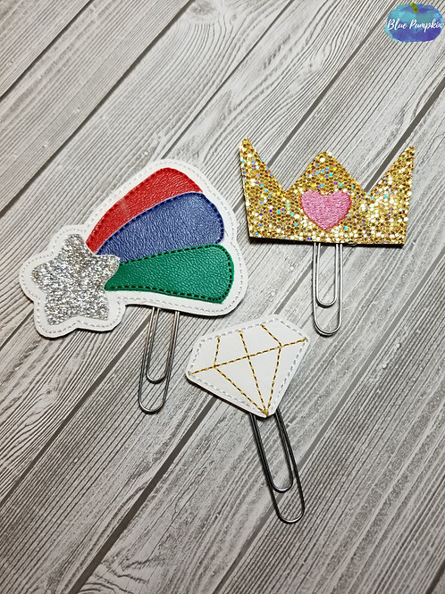 Unicorn Accessory Clips for Planner Band