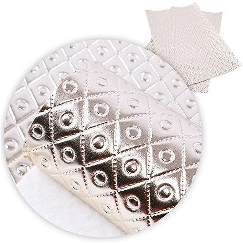 Champagne Diamonds Quilted Embroidery Vinyl